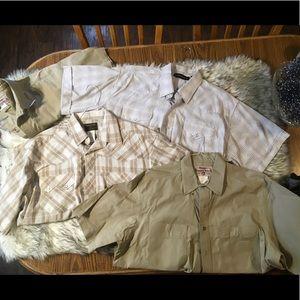 XL men's shirt/ bundle of 4/ western
